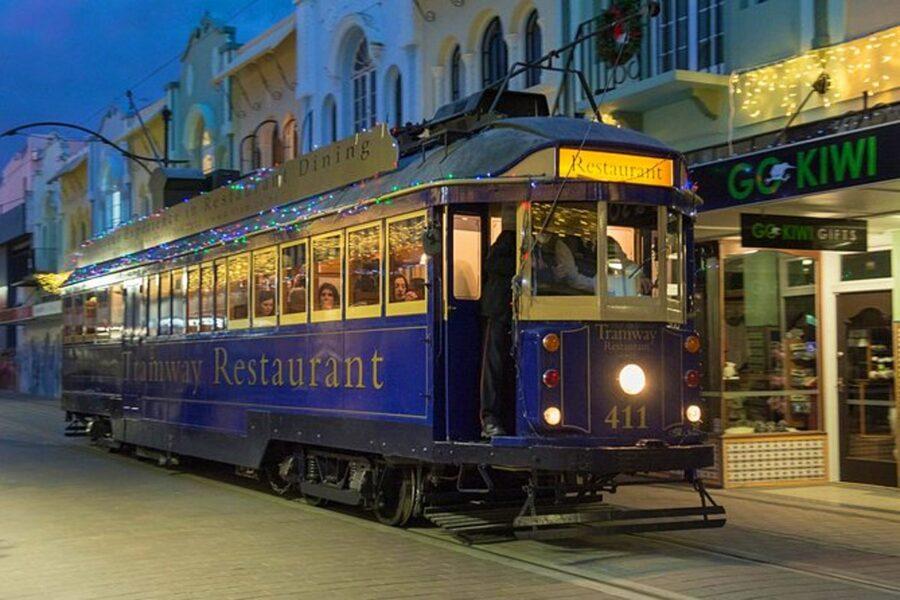 Christchurch tramway restaurant dinner