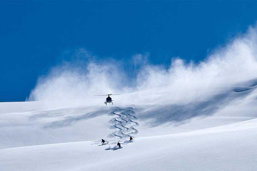 Heli Ski Queenstown Wanaka New Zealand ski holidays