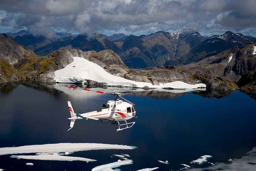 Te Anau helicopters Fiordland Queenstown New Zealand adventure honeymoon