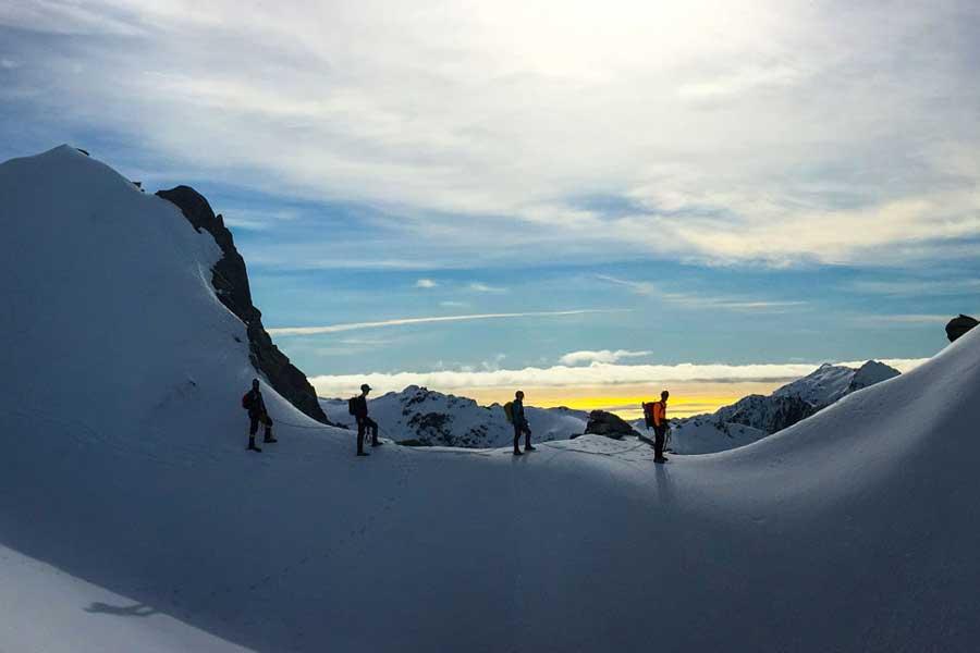Tasman Glacier heli hike Mount Cook New Zealand adventure tours