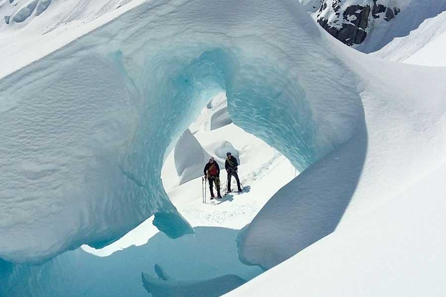 Tasman Glacier heli hike Mount Cook